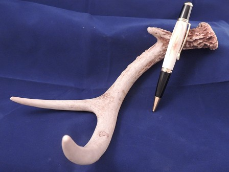 Turned Antler Pen