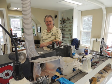 Michael Hughes in his Workshop